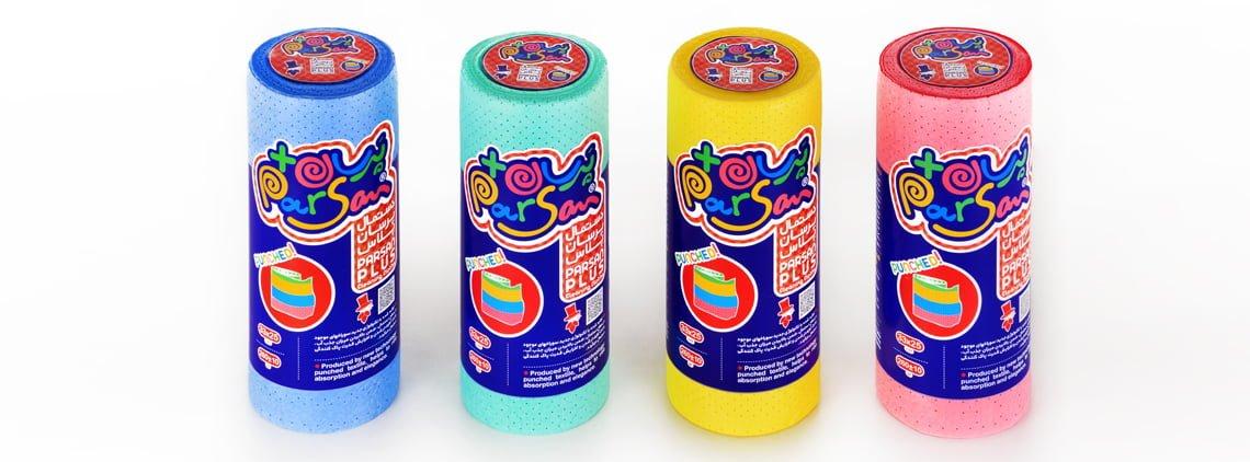 دستمال همه کاره پرسان پلاس - Plus Cleaning Cloths