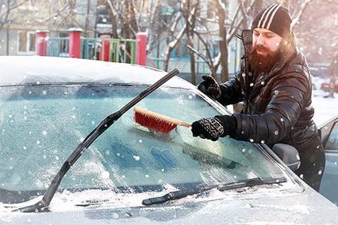 نکاتی درمورد نگهداری از رنگ خودرو در سرما - دستمال جیر خودرو پرسان