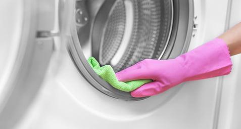 تمیزی لاستیک لباسشویی