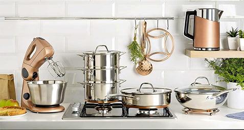 برق انداختن ظروف استیل
